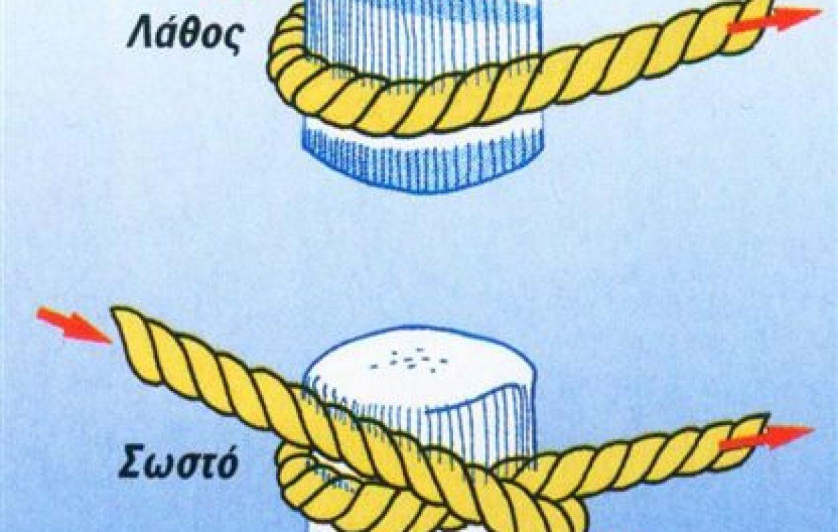 Αγαντάρισμα ενός κάβου ή σχοινιού