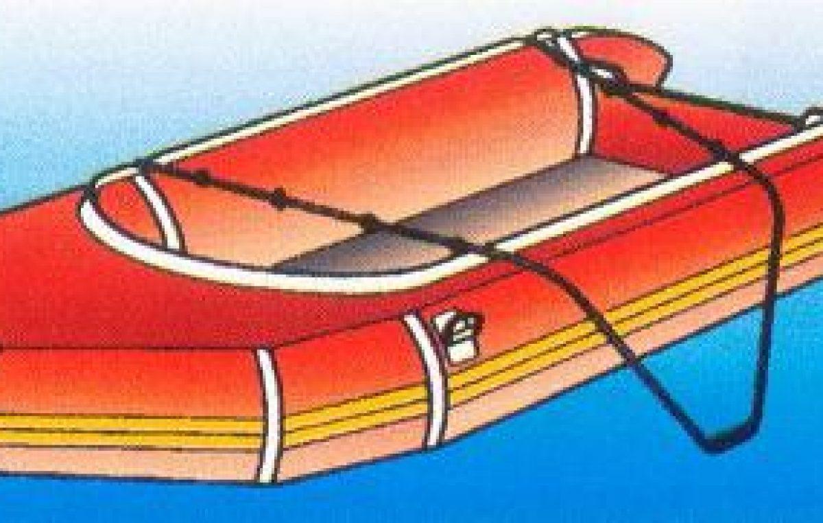 Ανεβαίνοντας στο φουσκωτό σκάφος