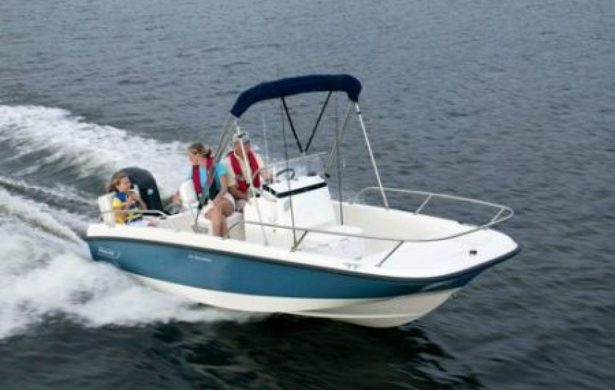 Boston Whaler 170 Dauntless.
