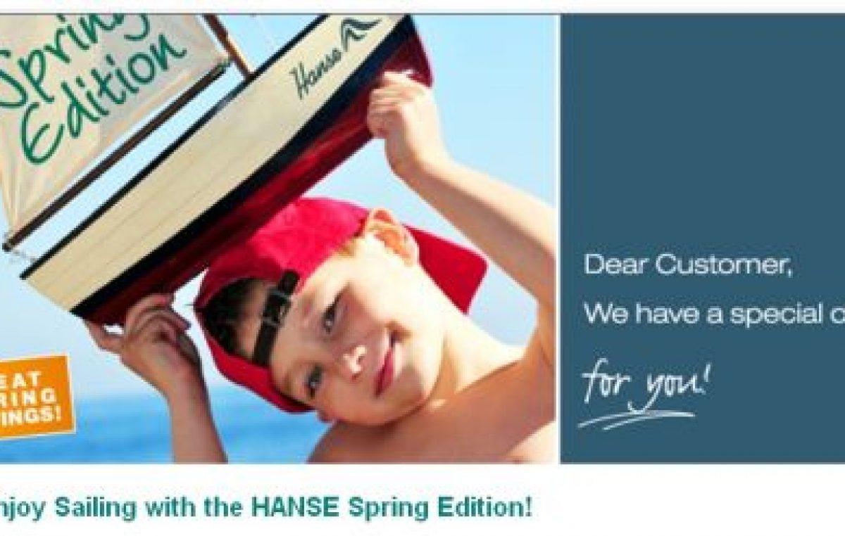 Ανοιξιάτικες προσφορές από την Hanse
