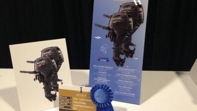 To Βραβείο Kαινοτομίας IBEX κατέκτησαν οι νέες εξωλέμβιες μηχανές Suzuki DF25A και DF30A.