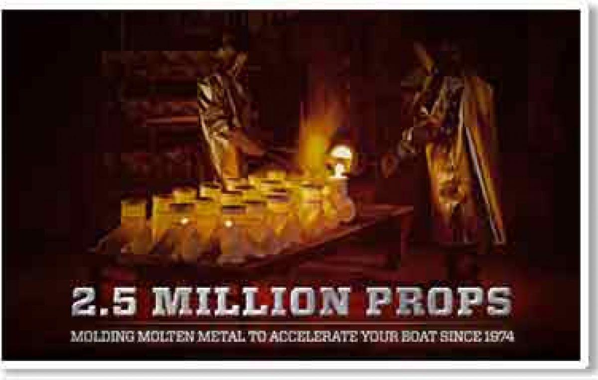 Η Mercury Marine γιορτάζει 2,500.000  έλικες!