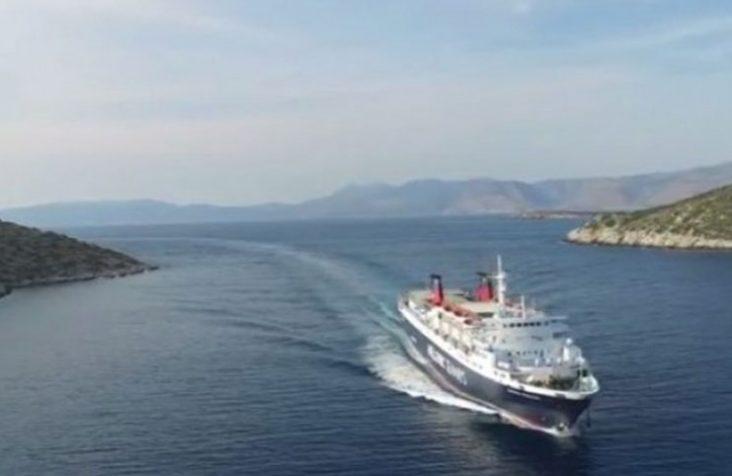 Η ΤΟΠ μανούβρα του Εξπρές Πήγασος στο λιμάνι Μεστών Χίου #βίντεο